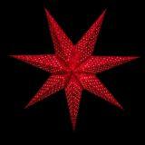 Sternenlicht Papierstern Alhambra Rot Glitter 7 Zackig Nachts