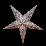 Sternenlicht Papierstern Ananda Silber 5 Zackig Nachts