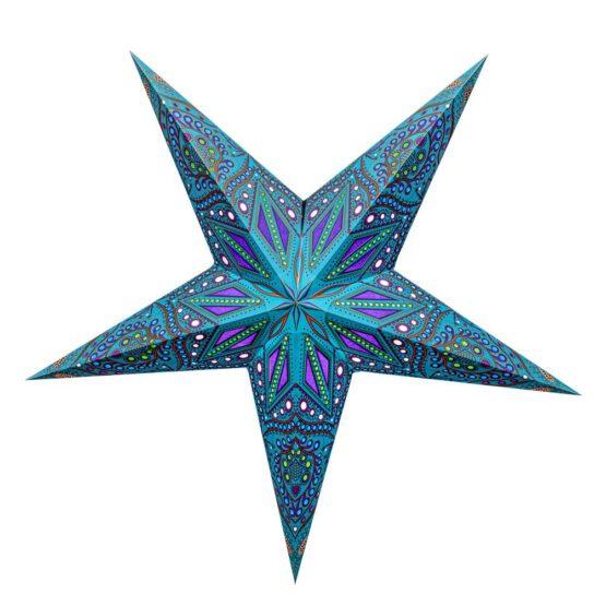 Sternenlicht Papierstern Ananda Türkis 5 Zackig
