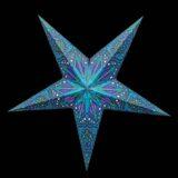 Sternenlicht Papierstern Ananda Türkis 5 Zackig Nachts