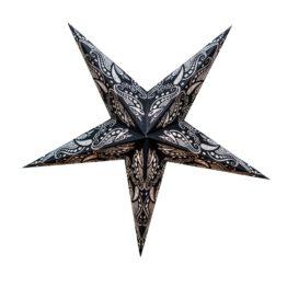 Sternenlicht Papierstern Baroque Black 5 Zackig