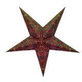 Sternenlicht Papierstern Belle Epoque Braun 5 Zackig