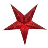 Sternenlicht Papierstern Belle Epoque Rot 5 Zackig