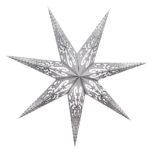 Sternenlicht Papierstern Curves Weiß 7 Zackig