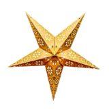 Sternenlicht Papierstern Eisblume Gold Metallic 5 Zackig