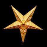 Sternenlicht Papierstern Eisblume Gold Metallic 5 Zackig Nachts