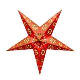 Sternenlicht Papierstern Eisblume Orange Metallic 5 Zackig
