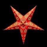 Sternenlicht Papierstern Eisblume Orange Metallic 5 Zackig Nachts