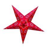 Sternenlicht Papierstern Eisblume Rot Metallic 5 Zackig