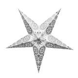 Sternenlicht Papierstern Eisblume Weiss Metallic 5 Zackig