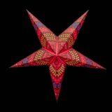 Sternenlicht Papierstern Flower Arcade 5 Zackig Nachts