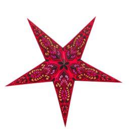 Sternenlicht Papierstern Ganeesha Rot 5 Zackig Standard