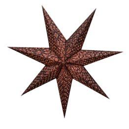Sternenlicht Papierstern Granada Braun Glitter 7 Zackig