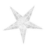 Sternenlicht Papierstern Jasmin Glitter Weiß 5 Zackig