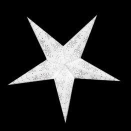 Sternenlicht Papierstern Jasmin Glitter Weiß 5 Zackig Nachts