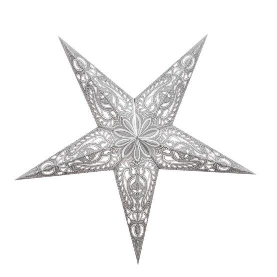 Sternenlicht Papierstern Lucca Weiß 5 Zackig
