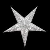 Sternenlicht Papierstern Lucca Weiß 5 Zackig Nachts