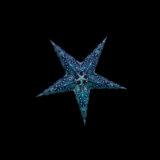 Sternenlicht Mandala Zari Türkis Glitter 5 Zack Baby Nachts