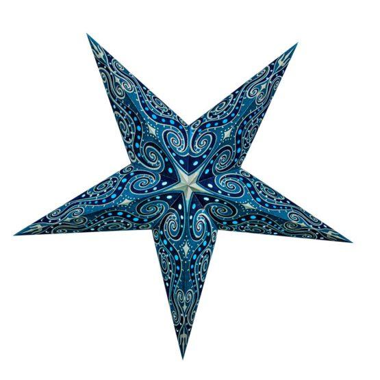 Sternenlicht Mandala Zari Türkis Glitter 5 Zack Standard