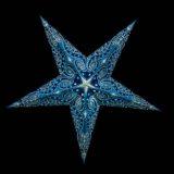 Sternenlicht Mandala Zari Türkis Glitter 5 Zack Standard Nachts