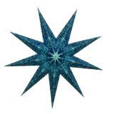 Sternenlicht Mandala Zari Türkis Glitter 9 Zack