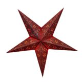 Sternenlicht Papierstern Moulin Rouge Rot 5 Zackig