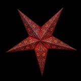 Sternenlicht Papierstern Moulin Rouge Rot 5 Zackig Nachts