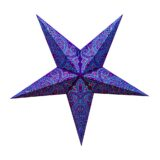 Sternenlicht Papierstern Paris Lila 5 Zackig