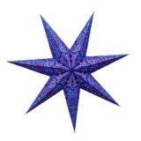 Sternenlicht Papierstern Paris Lila 7 Zackig