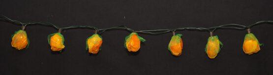 LED Lichterkette Feenlichter Minirosen 20 Lichter Orange